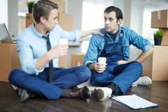 Talking at coffee break Stock Photography