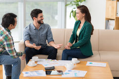 Talking colleagues Royalty Free Stock Photography