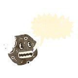 Talking cookie retro cartoon Stock Photo