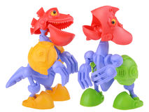 Talking dino-bots Stock Images