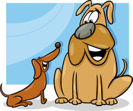 Talking dogs cartoon illustration Royalty Free Stock Photo