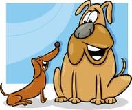 Talking dogs cartoon illustration. Cartoon Illustration of Two Funny Talking Dogs Royalty Free Stock Photo