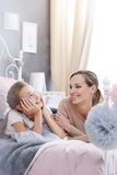 Talking about dreams. Teenage girl talking about her dreams with her mother Royalty Free Stock Images