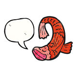 talking fish cartoon Royalty Free Stock Image