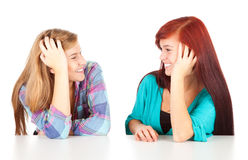 Talking friends, teenage girls Stock Photography