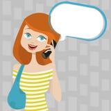 Talking girl Stock Photo