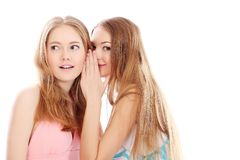 Talking girls Royalty Free Stock Image
