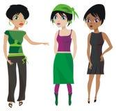 Talking Girls. Three pretty, brunettes girls talking Royalty Free Stock Photos