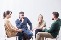 Talking in group Stock Photography