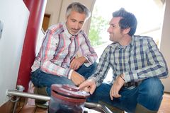 Talking and having deal. Talking and having a deal Royalty Free Stock Images