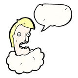 talking head in cloud cartoon Royalty Free Stock Image