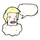 talking head in cloud cartoon Stock Image