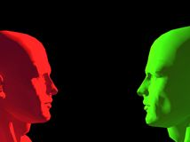 Talking heads faces Royalty Free Stock Photography