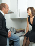 Talking in the kitchen Royalty Free Stock Photography
