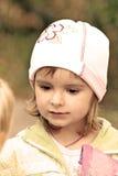 Talking little lovely girl Royalty Free Stock Images
