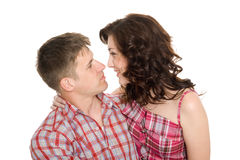 Talking loving young people Stock Photo
