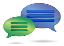 Talking message bubbles Stock Photos