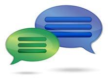 Talking message bubbles Stock Photos