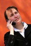 Talking mobile phone Stock Image