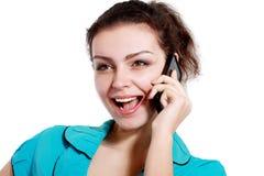 Talking on mobile Stock Photos