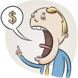 Talking Money Stock Photo