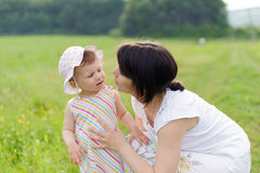 Talking Mother and Daughter Stock Image