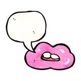 talking mouth symbol Royalty Free Stock Photos