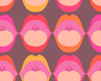 Talking mouths seamless pattern. Open talking mouths with tongues seamless pattern Royalty Free Stock Images