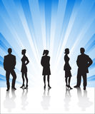 Talking people. Illustration of business people and abstract Royalty Free Stock Photography