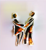 Talking people, abstract Ripped paper design and flames Royalty Free Stock Photography