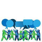 Talking People Icon.  illustration In Vector Format Royalty Free Stock Image