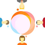 Talking people illustration Stock Photos