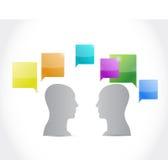 Talking people. illustration design Stock Image