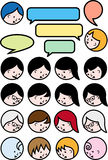 Talking people, vector icon set Royalty Free Stock Image