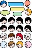 Talking people, vector icon set vector illustration