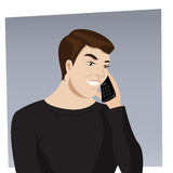 Talking on the phone Royalty Free Stock Photography