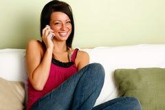 Talking on phone Royalty Free Stock Photos