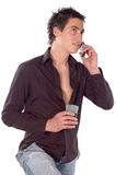 Talking on phone Stock Photography
