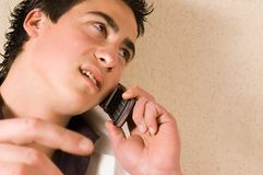 Talking on phone Stock Image