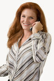 Talking on the phone Royalty Free Stock Photo