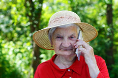 Talking on the phone Royalty Free Stock Image