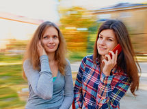 Talking with phone Royalty Free Stock Photography