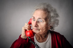 Talking on the phone Royalty Free Stock Photos