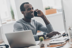 Talking on the phone. Royalty Free Stock Images