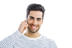 Talking phone Stock Image