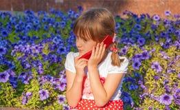 Talking on phone Royalty Free Stock Photo