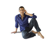 Talking on phone Royalty Free Stock Photography