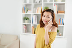 Talking on phone Royalty Free Stock Image