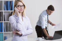 Talking on the phone Stock Photography