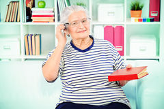 Talking on phone Royalty Free Stock Photos